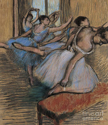 Pastel - The Dancers Circa 1900 by Edgar Degas