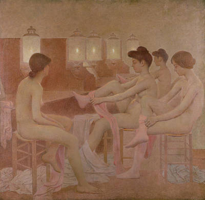 Nudes Painting - The Dancers by Fernand Pelez