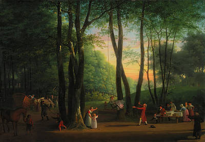 Swing Painting - The Dancing Glade At Sorgenfri by Jens Juel