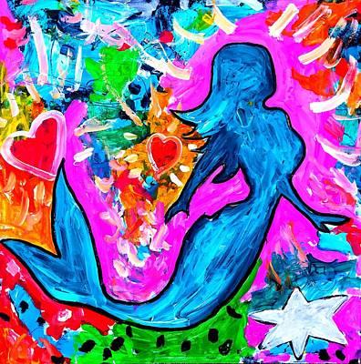 Painting - The Dancing Mermaid by Neal Barbosa