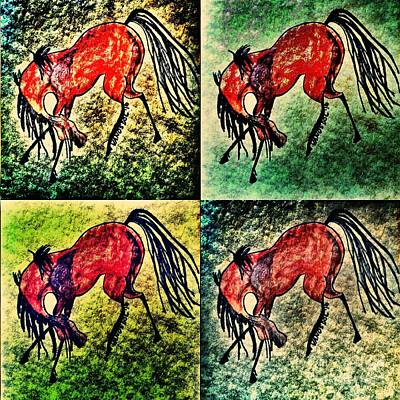 Wild Racers Painting - The Dancing Pont by Scott D Van Osdol