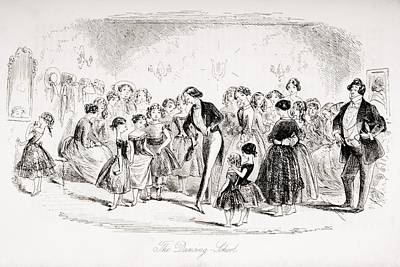 The Dancing School. Illustration By Art Print by Vintage Design Pics