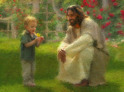 Smiling Jesus Painting - The Dandelion by Greg Olsen