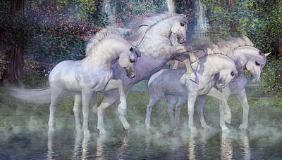 Prancing Digital Art - The Dapples Of Vienna by Betsy Knapp