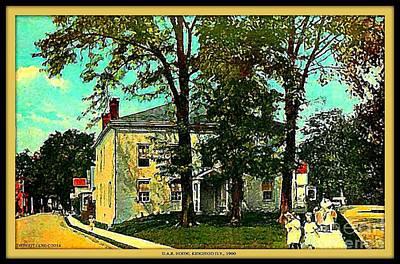 The D.a.r. Home In Kingston N Y, 1900. Art Print
