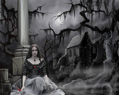 The Dark Caster Awaits Art Print by James Christopher Hill