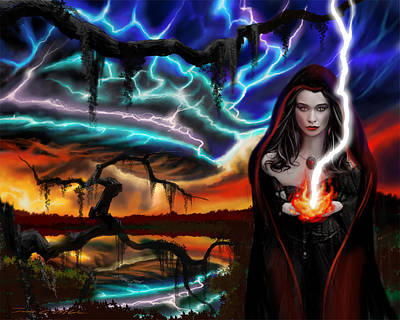 The Dark Caster Calls The Storm Art Print by James Christopher Hill