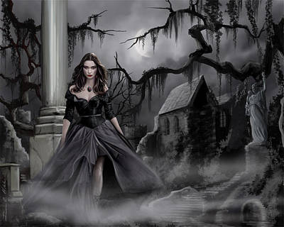 The Dark Caster Comes Art Print by James Christopher Hill