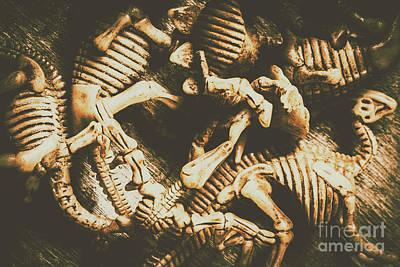 The Dark Dinosaur Abstract Art Print