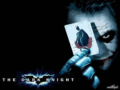Digital Art - The Dark Knight by Maye Loeser