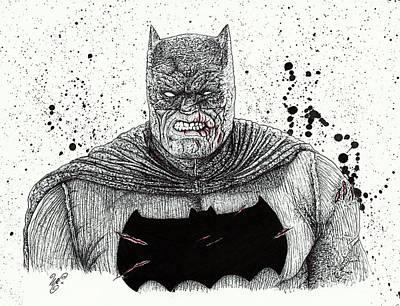 The Dark Knight Print by Wave Art