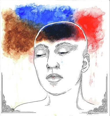 Depression Mixed Media - The Dark by Maria Volkova