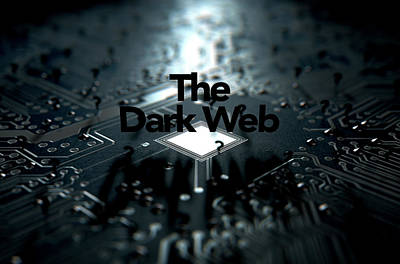 The Dark Web Concept Art Print
