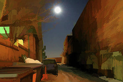 Streetscape Digital Art - The Darkness Never Goes by Christine Segalas