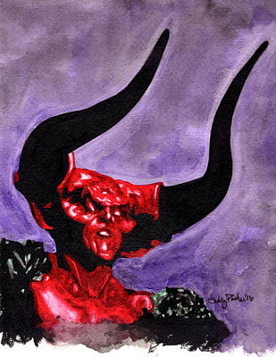 Tim Curry Painting - The Darkness by Shelly Denning