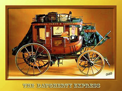 Painting - The Daugherty Express by CHAZ Daugherty