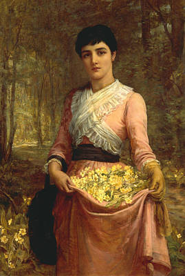 Painting - The Daughters Of Our Empire. England - The Primrose by Edwin Long
