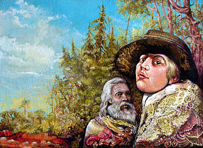 Painting - The Dauphin And Captain Nemo Discovering Bogomils Island by Otto Rapp