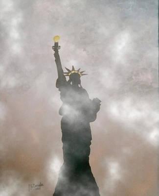 Painting - 9/11 Darkest Day In Usa History by Joseph Frank Baraba