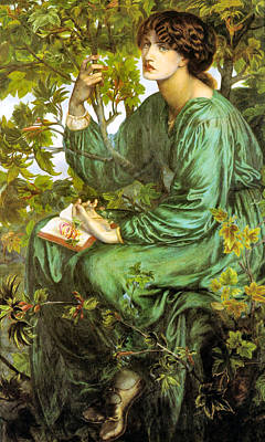 Painting - The Day Dream 1880 by Gabriel Rossetti - Joy of Life Art Old Masters Gallery