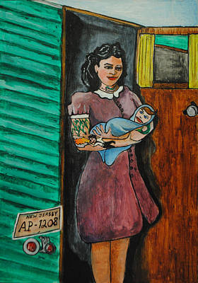 Tillie Painting - The Day He Was Born by Patricia Arroyo