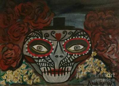 Animals Paintings - The Day of The Dead by Just Another-Bird