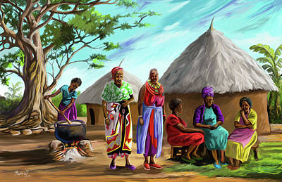 Painting - The Day Of The Groom by Anthony Mwangi