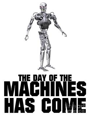 Bum Digital Art - The Day Of The Machines Has Come by Esoterica Art Agency