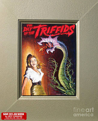 Damsel In Distress Painting - The Day Of The Triffids by Jeff Cornish