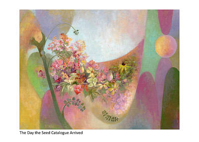 Painting - The Day The Seed Catalogue Arrived by Betsy Derrick