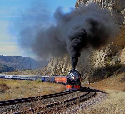 Photograph - The Daylight 4449 Under Full Steam by Carolyn Jacob