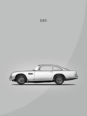 Racing Car Photograph - The Db5 by Mark Rogan