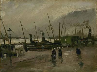 Painting - The De Ruijterkade In Amsterdam Amsterdam, October 1885 Vincent Van Gogh 1853  1890 by Artistic Panda