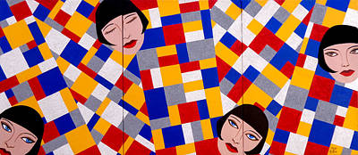 The De Stijl Dolls Art Print by Tara Hutton