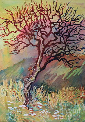 Climate Change Painting - The Dead Madrone IIi by Marsha Reeves