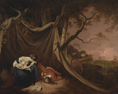 Painting - The Dead Soldier  by Joseph Wright