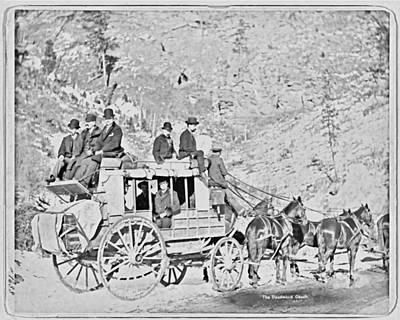 Bed Spread Photograph - The Deadwood Coach by John Feiser