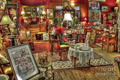 Photograph - The Dealer Greensboro Antique Mall Greensboro Georgia Art by Reid Callaway