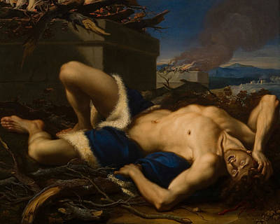 Late 18th Century Painting - The Death Of Abel by Antonio Balestra