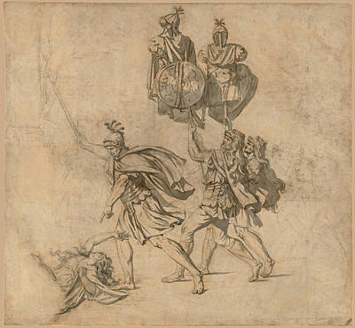 Drawing - The Death Of Camilla by Jacques-Louis David