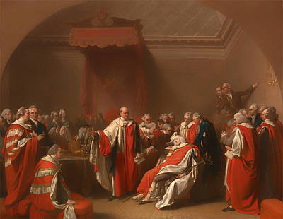 Chatham Painting - The Death Of Chatham - William Pitt 1st Earl Of Chatham by Mountain Dreams