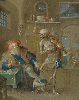 Painting - Death Playing The Violin by Frans Francken the Younger