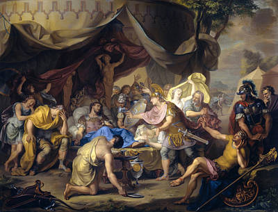 Painting - The Death Of Epaminondas by Isaac Walraven