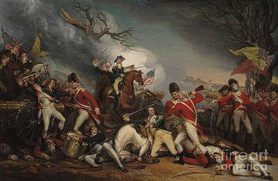 Bayonets Painting - The Death Of General Mercer At The Battle Of Princeton, January 3, 1777  by John Trumbull