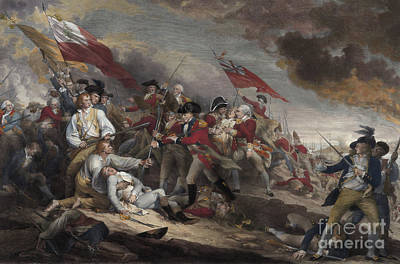 The Death Of General Warren At The Battle Of Bunker Hill, 17th June 1775 Art Print