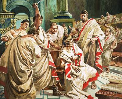 Senate Painting - The Death Of Julius Caesar  by C L Doughty