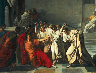 Senate Painting - The Death Of Julius Caesar by Vincenzo Camuccini