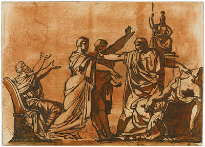 Drawing - The Death Of Lucretia by Theodore Gericault