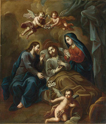 Painting - The Death Of Saint Joseph by Miguel Cabrera
