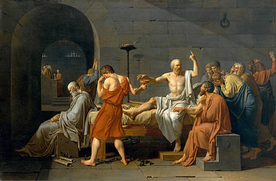 Philosopher Painting - The Death Of Socrates - Jacques-louis David  by War Is Hell Store